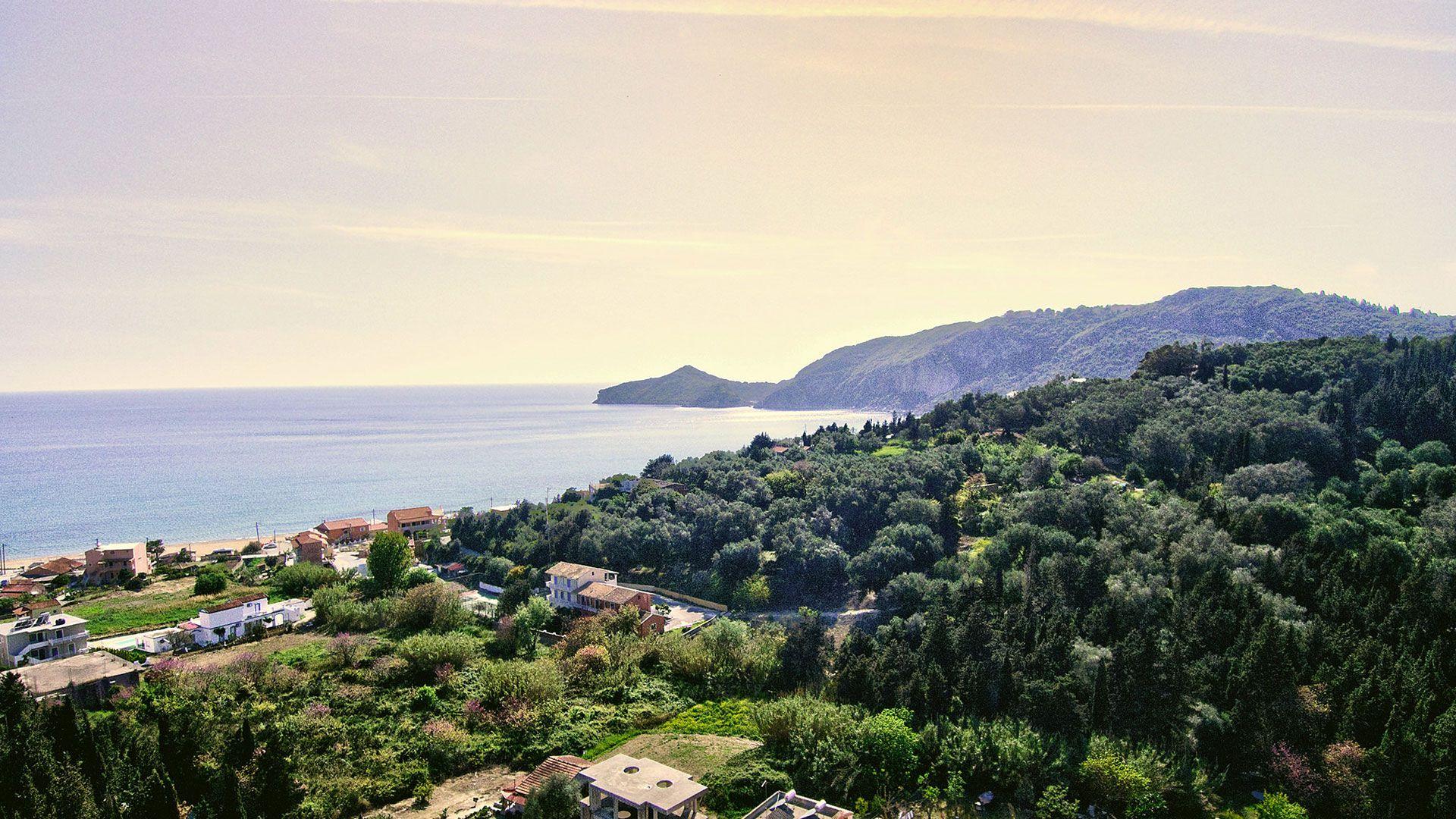 View of Agios Georgios bay
