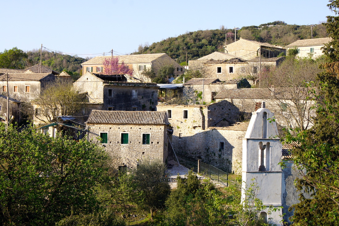 Old Peritheia Village north corfu